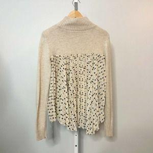 Anthropologie Moth Apres Fete Polka Dot Sweater